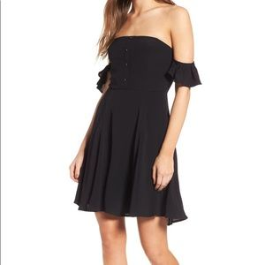NEW ASTR The Label Rosario Off Shoulder Dress